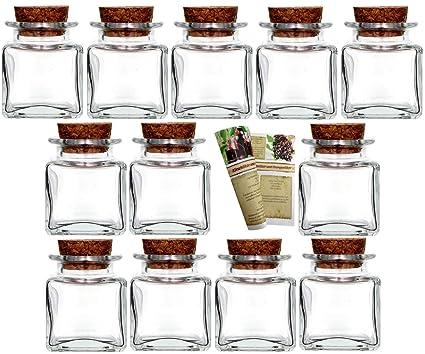 gouveo 12 Vasos de Kleine Corcho Mini 50 Incl. Corcho y 28 ...