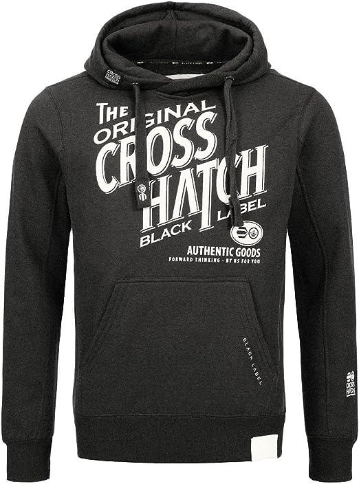 CrossHatch Herren Sweatshirt Pullover STIPPEL CH Printed