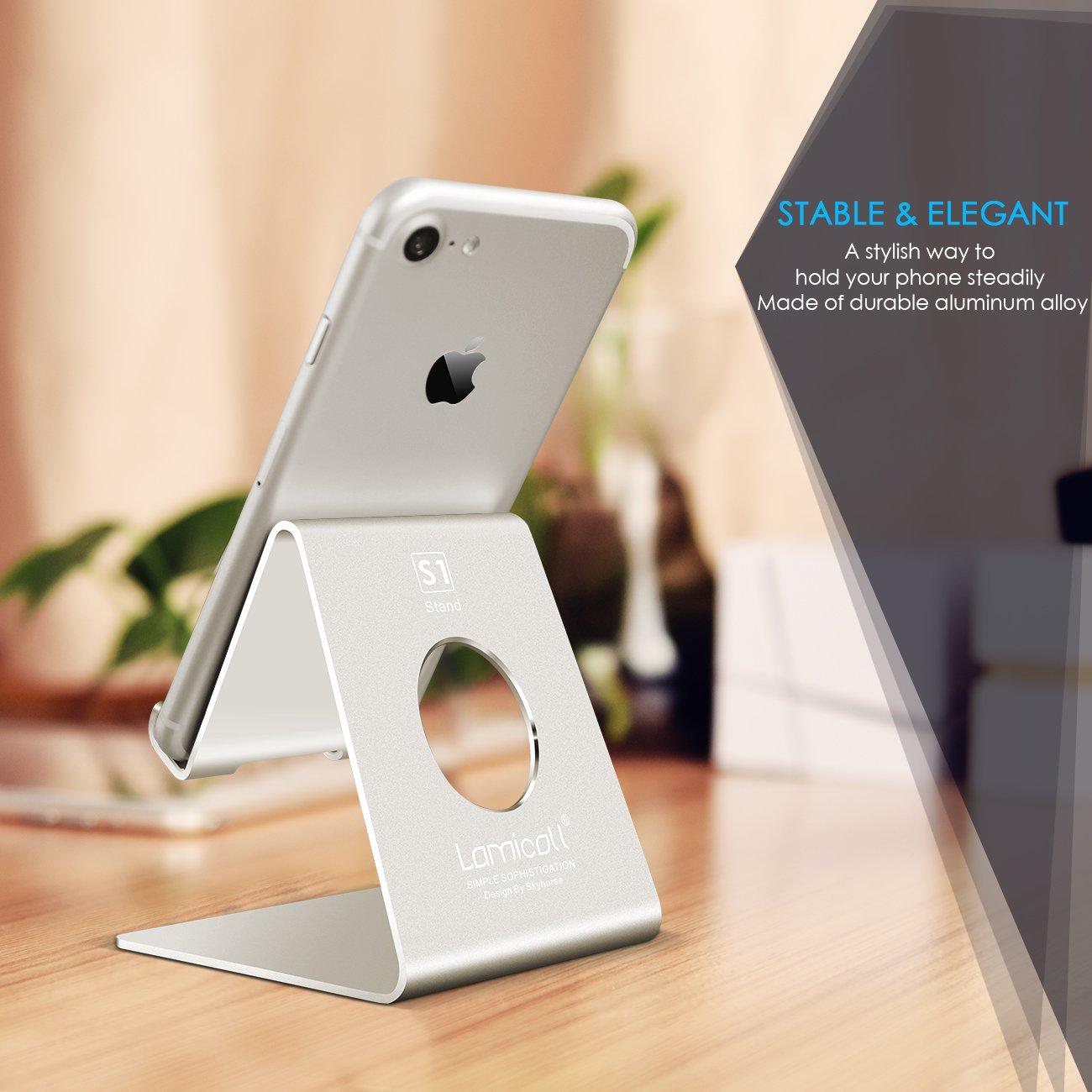 Handy Ständer, Lamicall Handy Halterung : Handyhalterung, Halter für Phone 11 Pro, Xs Max, Xs, XR, X, 8, 7, 6 Plus, SE, 5, Samsung S10 S9 S8 S7 S6 S5,