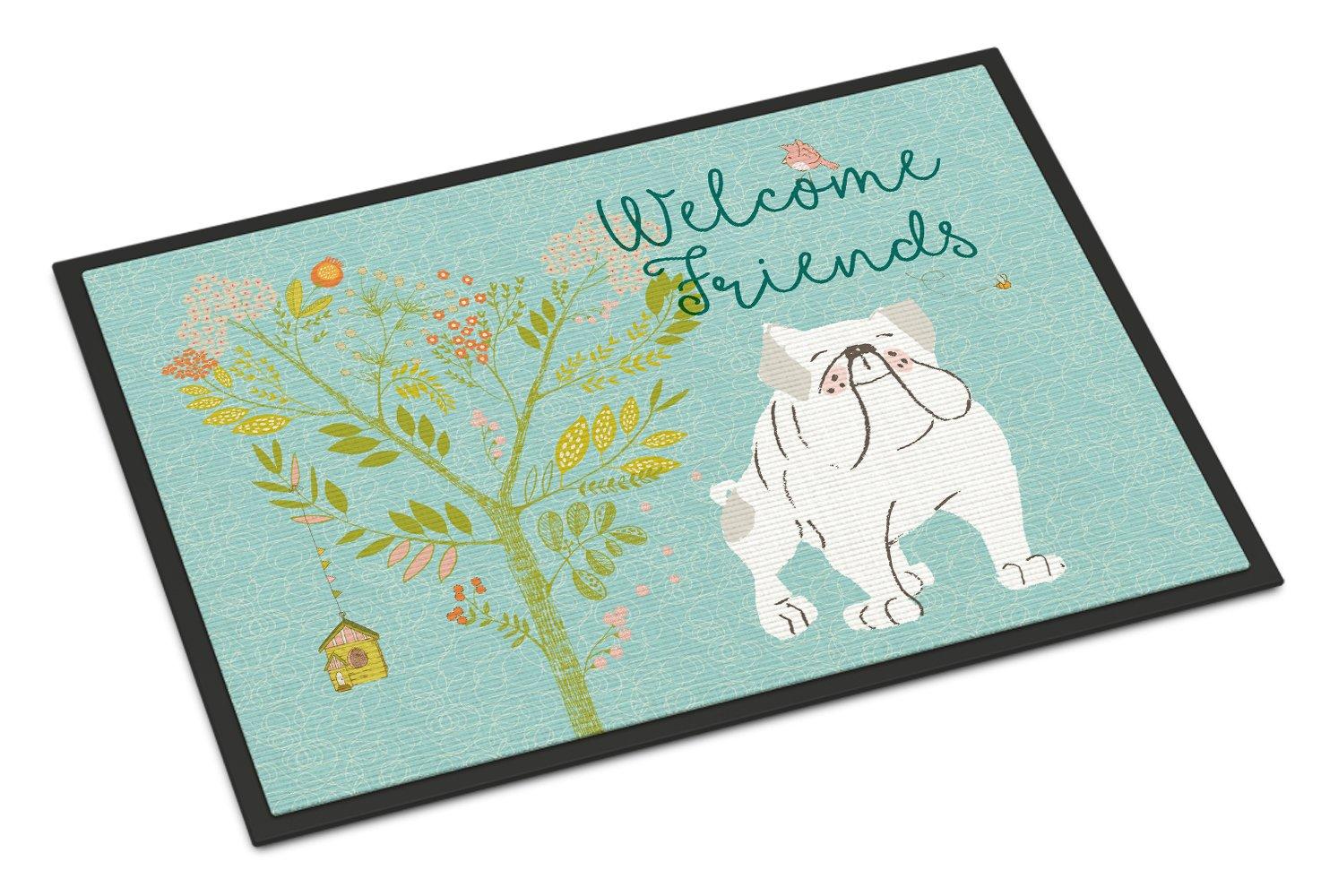 Carolines Treasures Snowman with White English Bulldog Floor Mat 19 x 27 Multicolor
