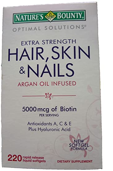 Amazon.com : Nature\'s Bounty Optimal Solutions Extra Strength Hair ...