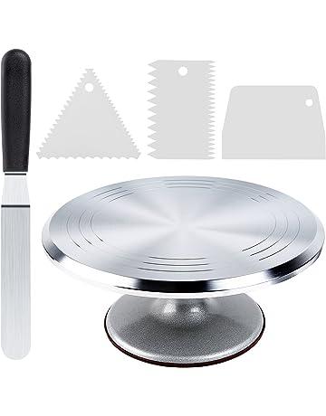 Cake Stand Ohuhu Aluminium Revolving Turntable 12 Rotating Decorating With