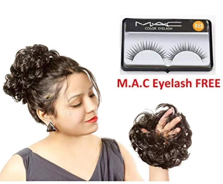 00751da1173 Ritzkart Women Curly Hair Bride Bun Natural Black: Amazon.in: Beauty