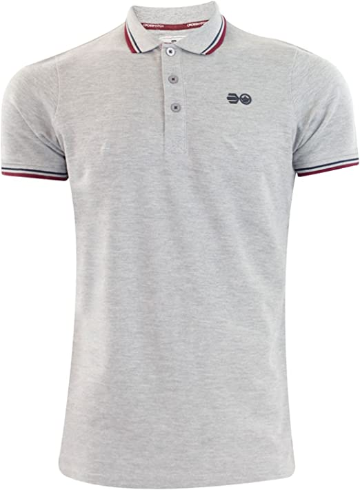 Mens Crosshatch DOWNTALK PK Polo T-Shirt Grey Marl XL: Amazon.es ...
