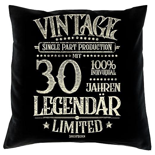 Soreso Diseño con 30 Años Legendär Set de Regalo - Cojín y ...