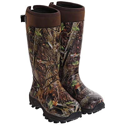Hisea Hunting Boots for Men Waterproof Insulated Rubber Boots Rain Boots Neoprene Mens Boots   Hunting