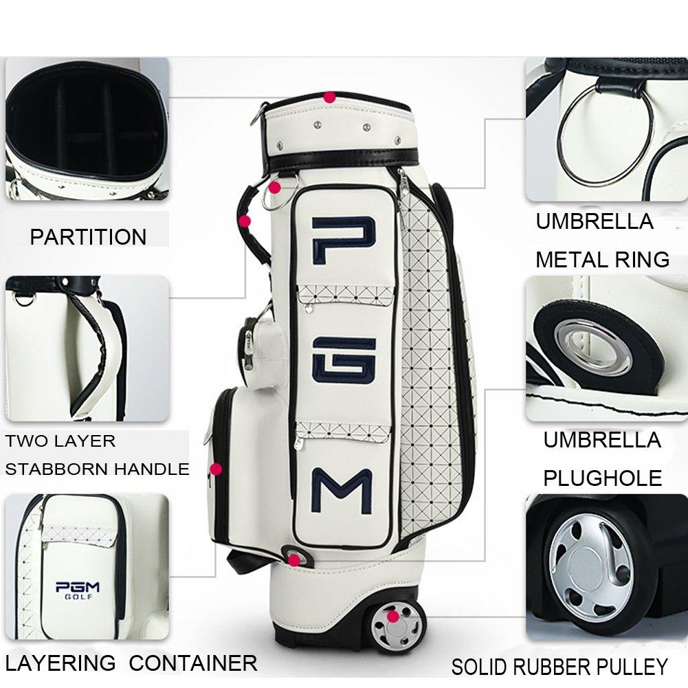 Amazon.com : PGM Women Wheeled Golf Stand Carry Bag ---PU Golf Clubs ...