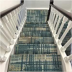 ZENGAI Alfombra de la Escalera Alfombras de peldaños Conjunto de 3 Antideslizante Autoadhesivo Protectores de escaleras Interiores Cinta Antideslizante Lavable Gratis 3 Estilos: Amazon.es: Hogar