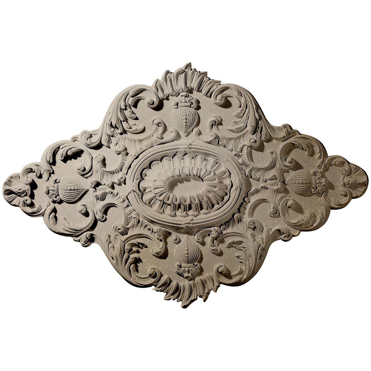 Ekena Millwork CM42X28ASFCS 42 3/4'' W x 28 7/8'' H x 1'' P Ashford Ceiling Medallion, Flash Copper