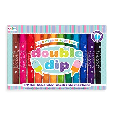 OOLY, Double Dip Scented Markers, Set of 12 (130-042): International Arrivals: Office Products [5Bkhe0202820]