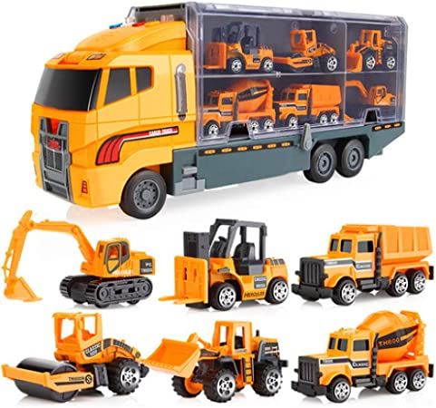 car toy pull back car container truck