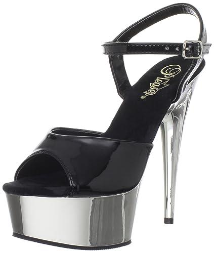 4258205f7df Pleaser Women s Delight-609 Platform Sandal