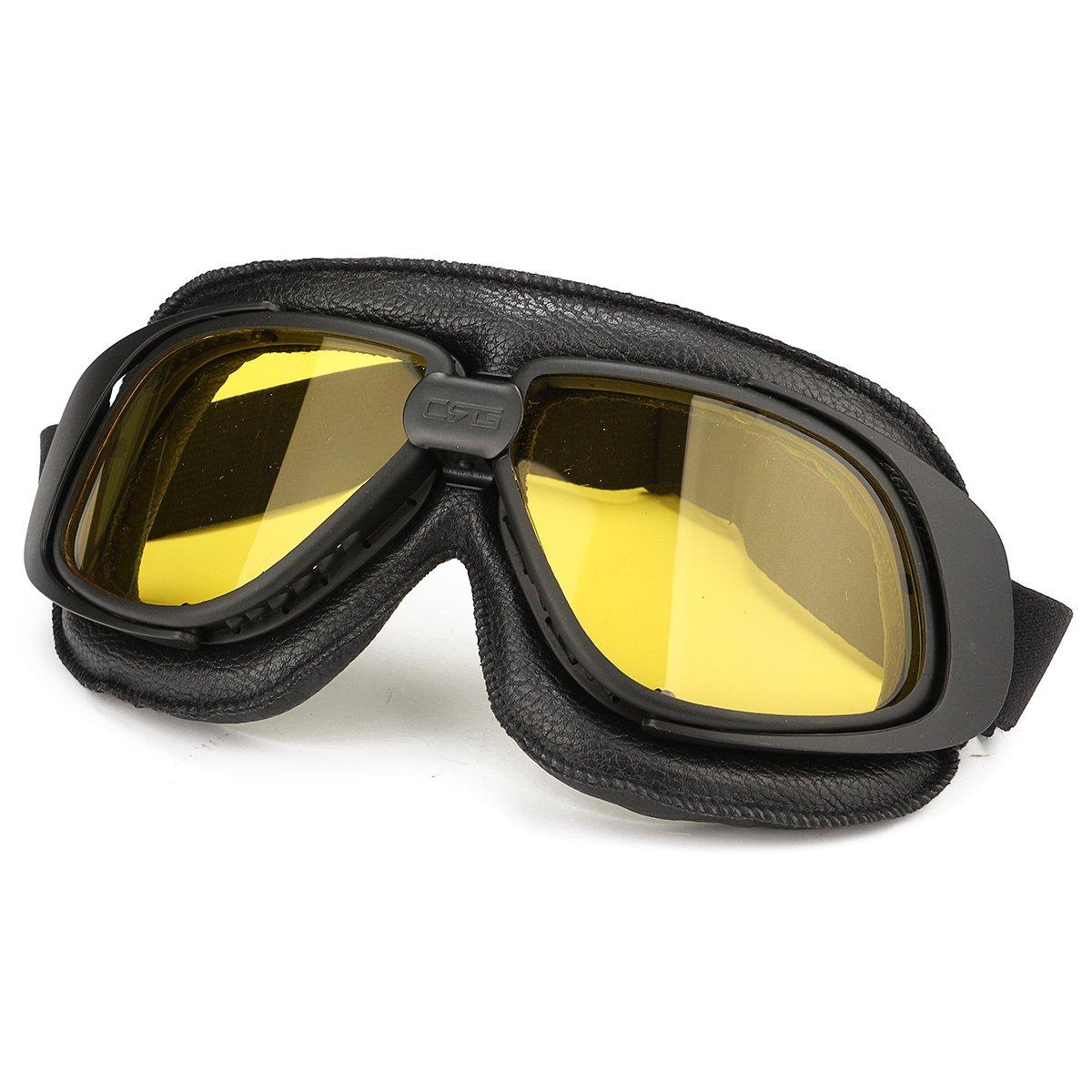 Wooya Gafas De Moto Moto Moto Casco Ojo Protecci/ón Gafas-Amarillo