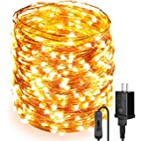 Moobibear Ultra Long LED String Lights 164ft 500 LEDs Copper Wire Lights, UL Listed Plug in Fairy Lights, Warm White Starry String Light with ON/Off Switch for Bedroom, Patio, Wedding, Party