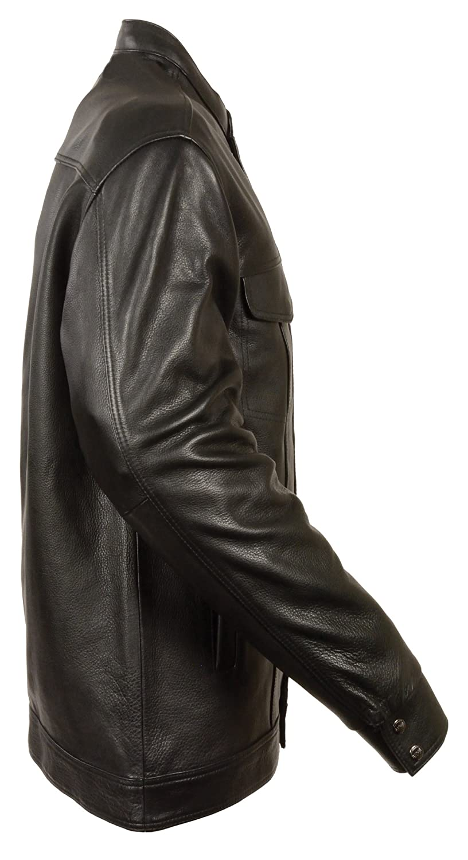 Black, X-Large Milwaukee Mens SOA Shirt with Hidden Zip And Snaps