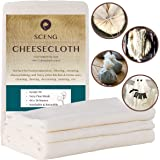 Cheesecloth, Grade 90, 54 Sq Feet, 100% Unbleached Cotton Fabric, Ultra Fine Reusable Cheesecloth for Cooking, Straining (Gra