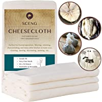 Cheesecloth, Grade 90, 54 Sq Feet, 100% Unbleached Cotton Fabric, Ultra Fine Reusable Cheesecloth for Cooking, Straining (Grade 90-6Yards)