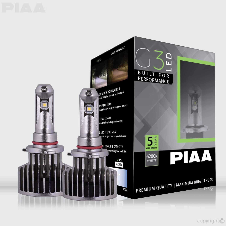 2 Pack PIAA 26-17496 9006 G3 LED Bulbs 6200K-12//24V 23W-Twin