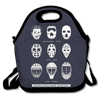 Amazon Com Goalie Mask Evolution Hockey Travel Picnic Lunch Bags
