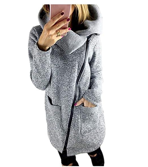 Amazon.com: Gyoume sudadera con capucha para mujer, con ...