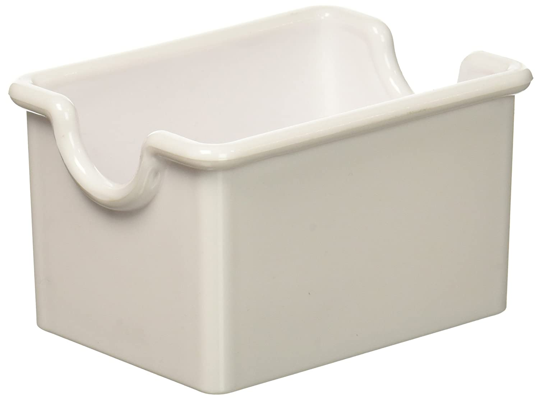 New Star Foodservice 28461 Plastic Sugar Packet Holder, White, Set of 12