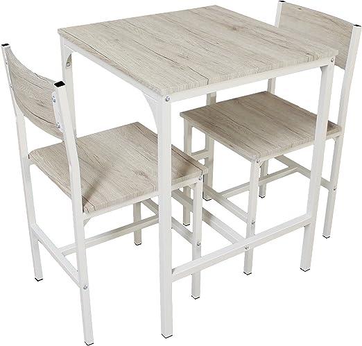 YELLOO Mod. PORTOFINO set Mesa Bar con 2 sillas Beige Cocina ...
