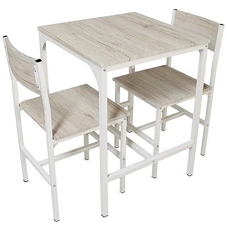 YELLOO Mod. PORTOFINO set Mesa Bar con 2 sillas Beige Cocina Mesa ...