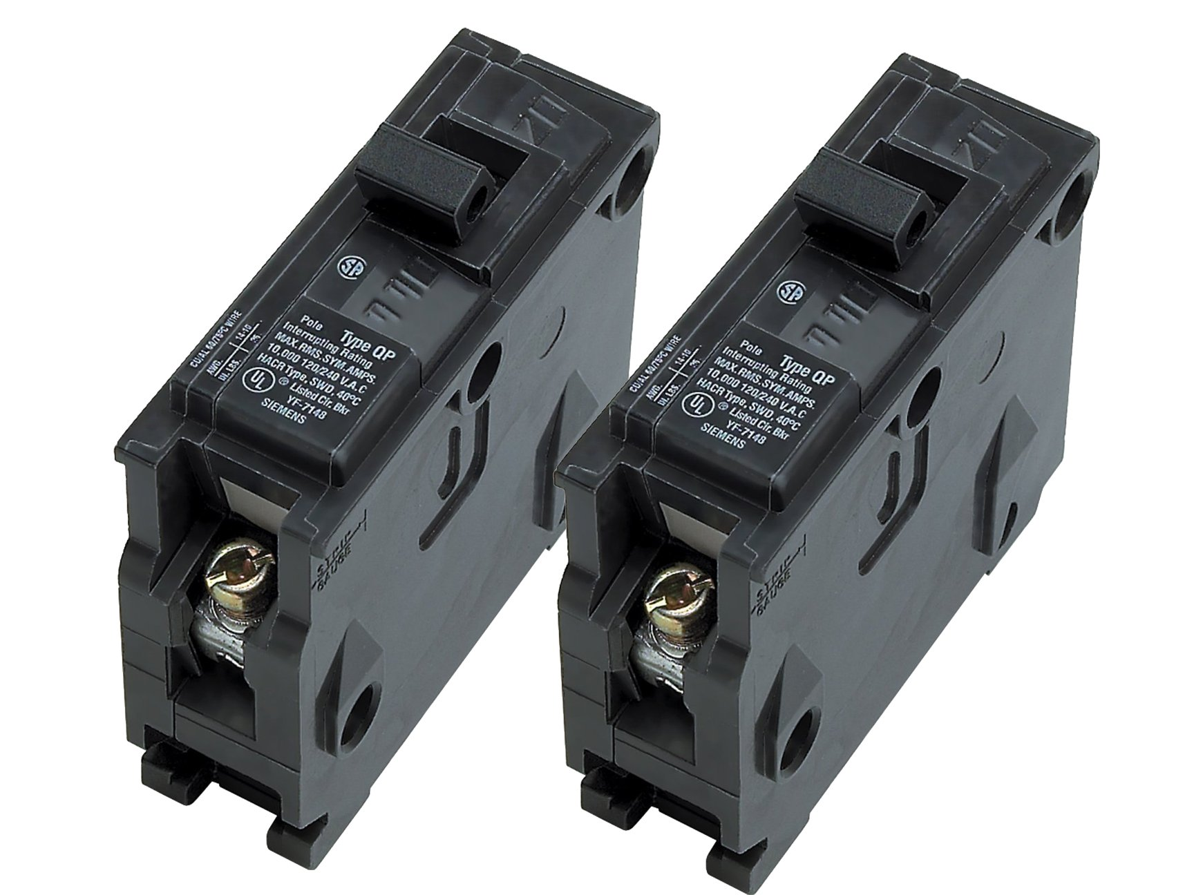 Siemens Q130 30-Amp 1 Pole 120-Volt Circuit Breaker - 2 Pack