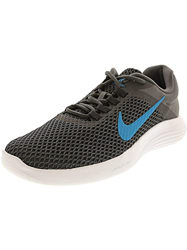 Nike Men s Lunarconverge 2 Dark Grey Neon Turquoise - Anthracite Ankle-High  Mesh Running e93f5d591