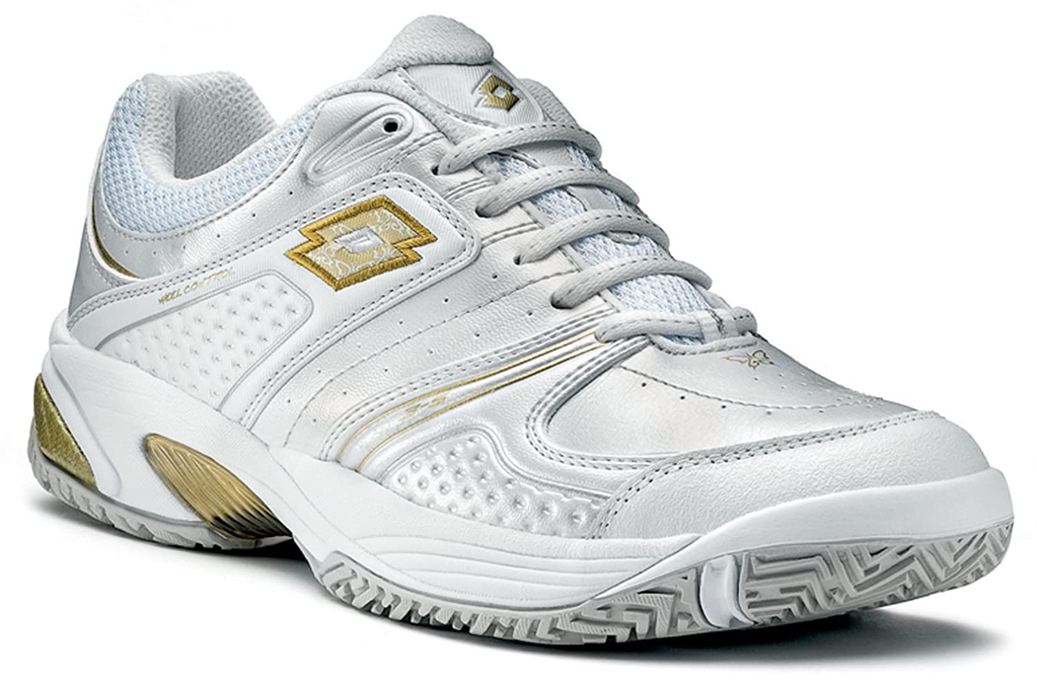 Lotto Tennisschuh Venusya Damen Gr. Gr. Gr. 42 (EU) ice Weiß metall Gold 1471fe