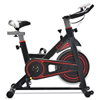 iDeer Life Exercise Bike, Indoor Cycling Bike, Smooth and Quiet Stationary Spin Bike, Fully Adjustable with Heart Rate Sensor