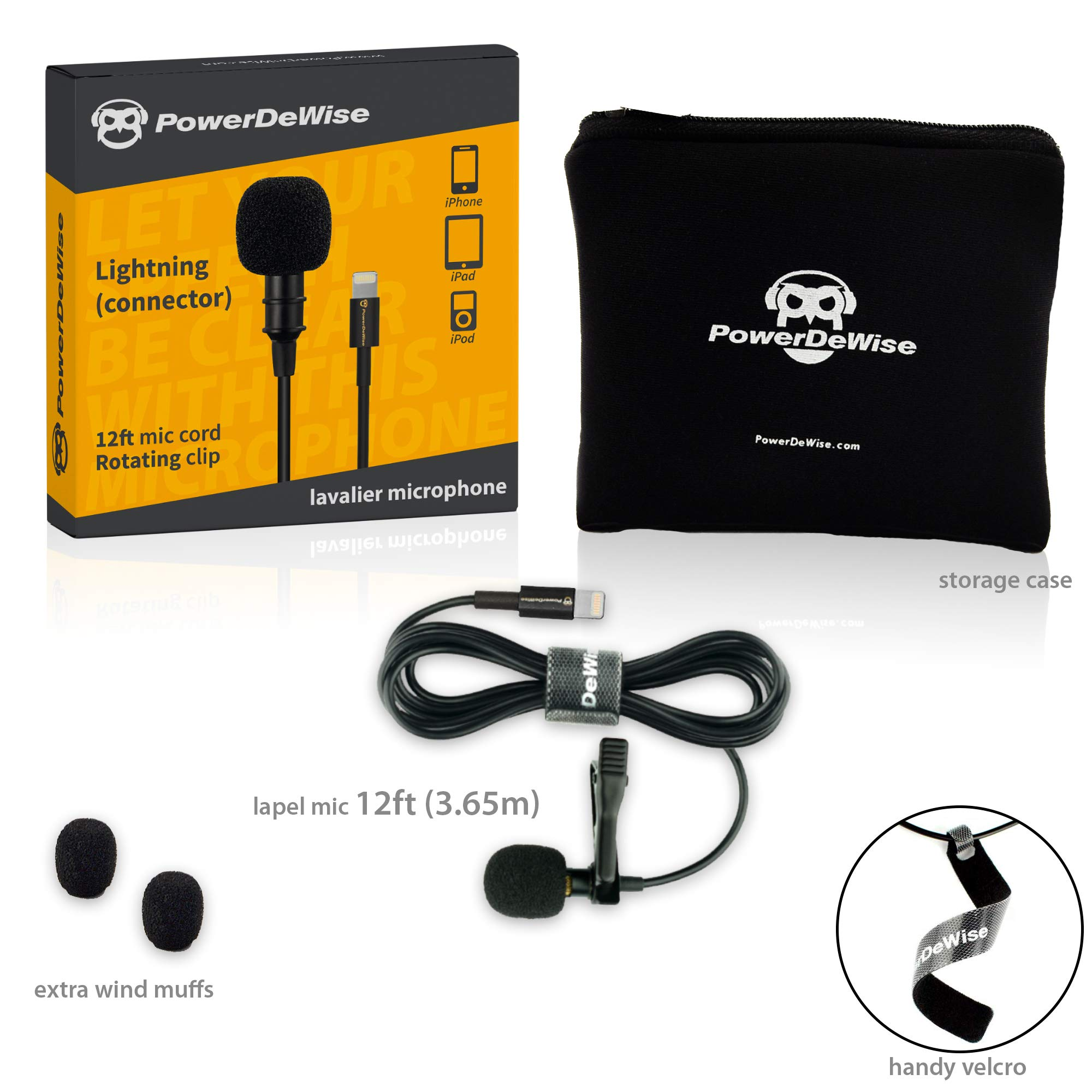 PowerDeWise Microphone for iPhone with Lightning Connector - iPhone Lightning Microphone - Excellent Mic iPhone 6 7 8 X by PowerDeWise (Image #2)