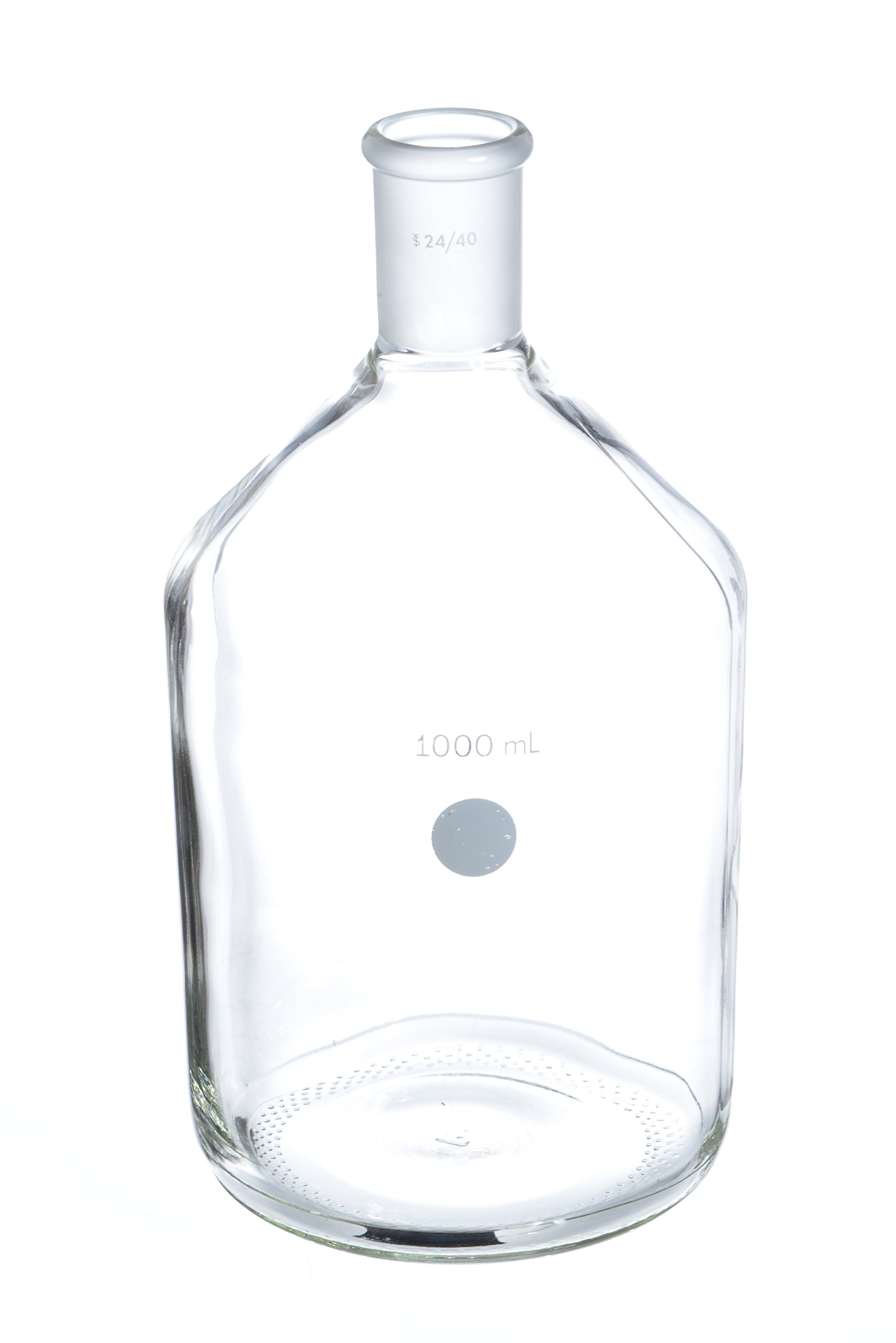 Wilmad-LabGlass LG-3460-104 Single Neck Bottle, 1000mL, Standard Taper 24/40 Outer