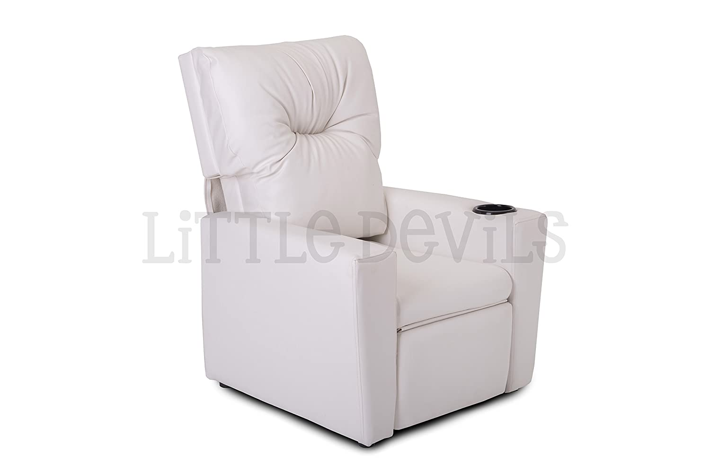 white kids childrens recliner armchairgames chairsofaseat in pu  - white kids childrens recliner armchairgames chairsofaseat in pu leatherlook amazoncouk kitchen  home