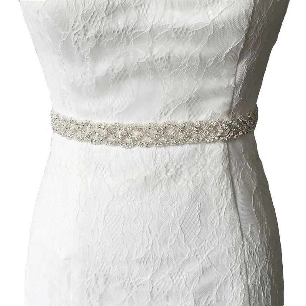 shinybeauty boda Sash cristal diamante Rhinestone Applique, cristal y Rhinestone flor vestido de novia cinturones DIY Romántica boda velo cinturón ra027