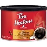Tim Hortons 100% Colombian, Fine Grind Coffee, Dark Medium Roast, 640g Can