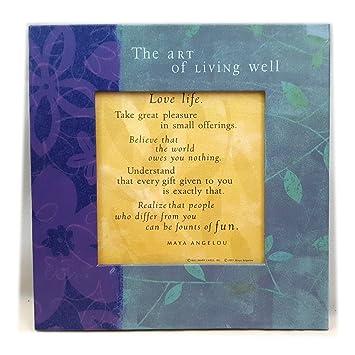 Amazon.com: Hallmark Maya Angelou Life Mosaic The Art of Living Well ...