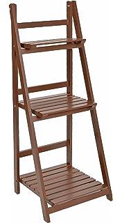 ts-ideen - Mueble para flores estante escalera estantería de pared balcón jardín colorado plegable…