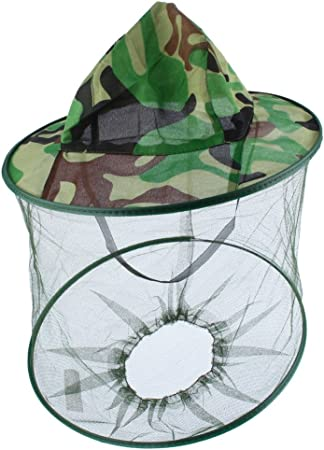 Face Travel Mosquito Camping Midge Net Insect Mesh Protector Hat Head-Bug N V4F1
