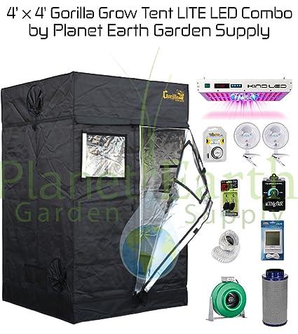 Gorilla Grow Tent LITE (4u0027 x 4u0027) LED Combo Package #1  sc 1 st  Amazon.com & Amazon.com : Gorilla Grow Tent LITE (4u0027 x 4u0027) LED Combo Package #1 ...