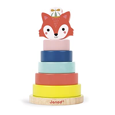 Janod Baby Forest Fox Stacker Toy: Toys & Games