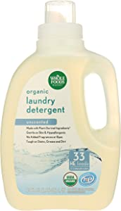 Whole Foods Market, Organic Laundry Detergent (33 HE Loads), Unscented, 50 Fl Oz