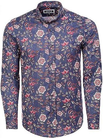 Carisma CRM8459 - Camisa, Color Azul Marino y Rojo Azul ...