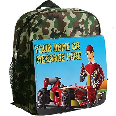 Personalizado F1 coche de carreras sh203 camuflaje mochila ...