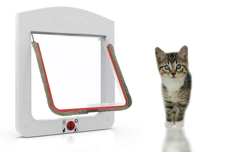 Gatera para puerta aislante, puerta para gatos, Su fácil y rápida instalación puerta para perros pequeños, puerta para gatos 4 posiciones de cierre.