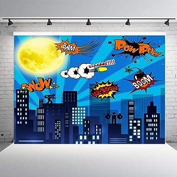 DLERGT 7 x 5 pies Superhéroe Cityscape fotografía Fondo y ...