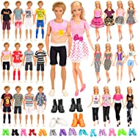 Barwa 24 Accessories Selected Randomly for 11.5 - 12 Inch Girl Boy Dolls and 12 Inch Boy Dolls: 6 Clothes + 4 PCS Shoes…