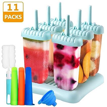 Molde Para Helados, Gifort Helado Moldes Fabricante Helado Jelly Pop Mold Popsicle , con Cepillo