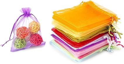 Bolsitas Para Joyas Con Cordón De Organza De Regalo 100 Piezas Colores Variados