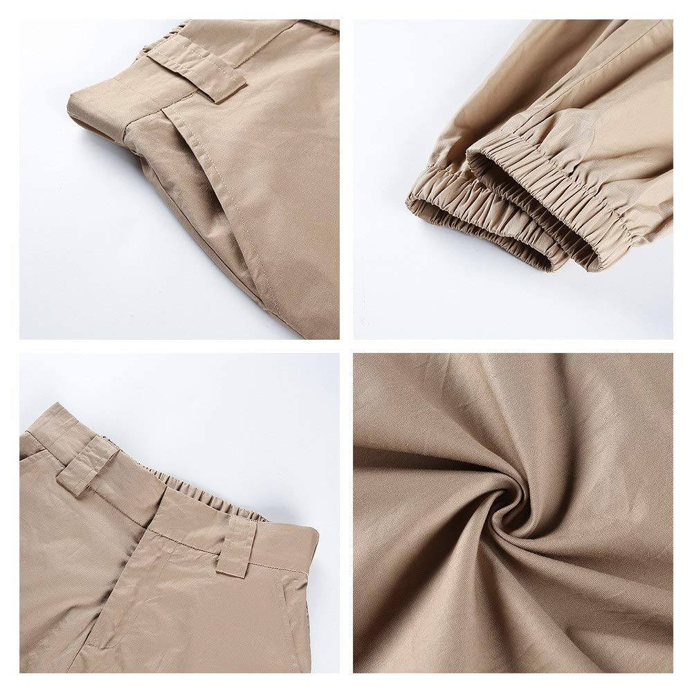Lady Pants Leisure Fashion Women Cargo Pants Elastic Waist Solid Color Loose Lounge Jogger Pants Casual Harem Baggy Hip Hop Dance Outdoor Jogging Sweatpants Relaxed Fit Trousers Slim Fit Lightweight